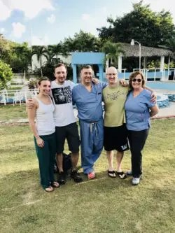 Dr. Levine, Dr. Kozanek, Bill Martin, Beth Keelan and Lauren Doherty in the Domincan Republic on a medical mission trip