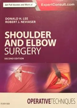 Textbook cover titled Shoulder and Elbow Surgery