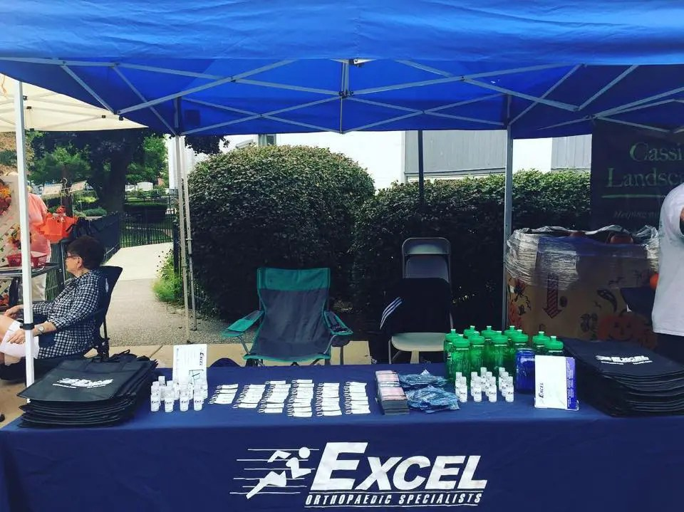 Excel booth set up at the Stoneham Fair