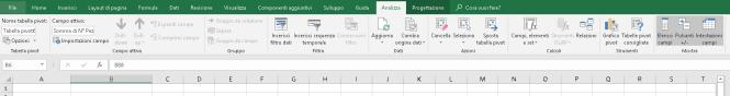 Scheda analizza tabelle pivot