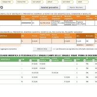 Foglio Excel per i preventivi