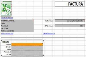Plantilla de Facturas hechas en Excel