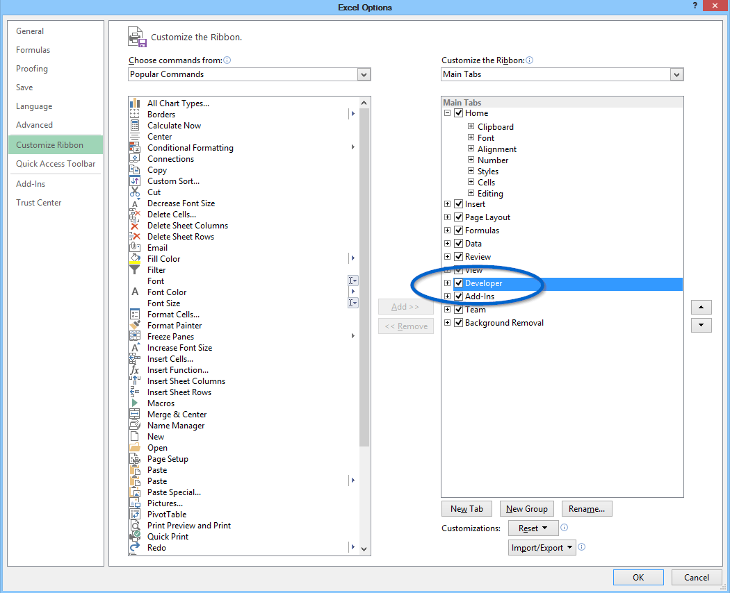 How To Show The Developer Tab In Excel