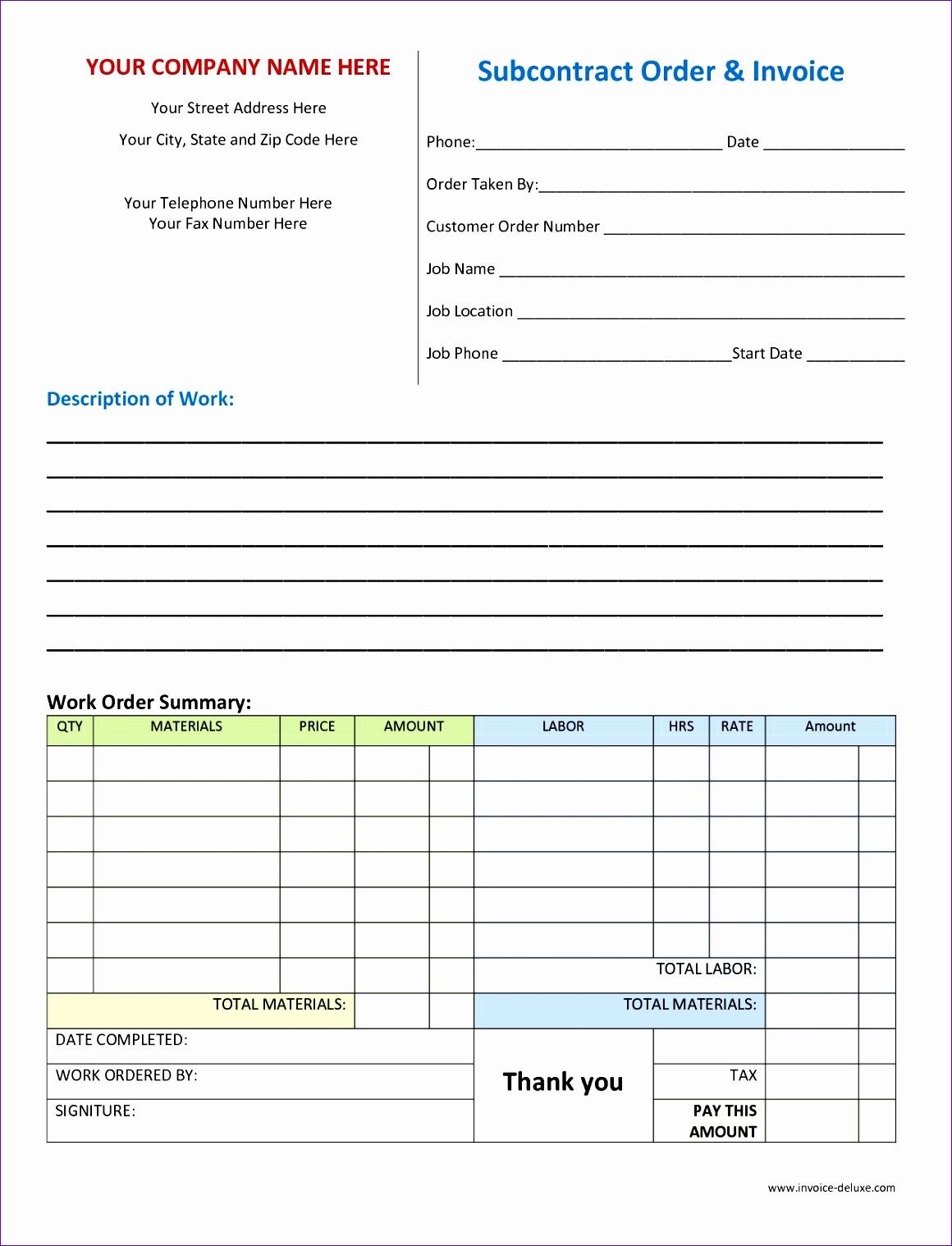 6 Auto Repair Order Template Excel