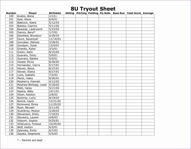7 Basketball Stat Sheet Template Excel