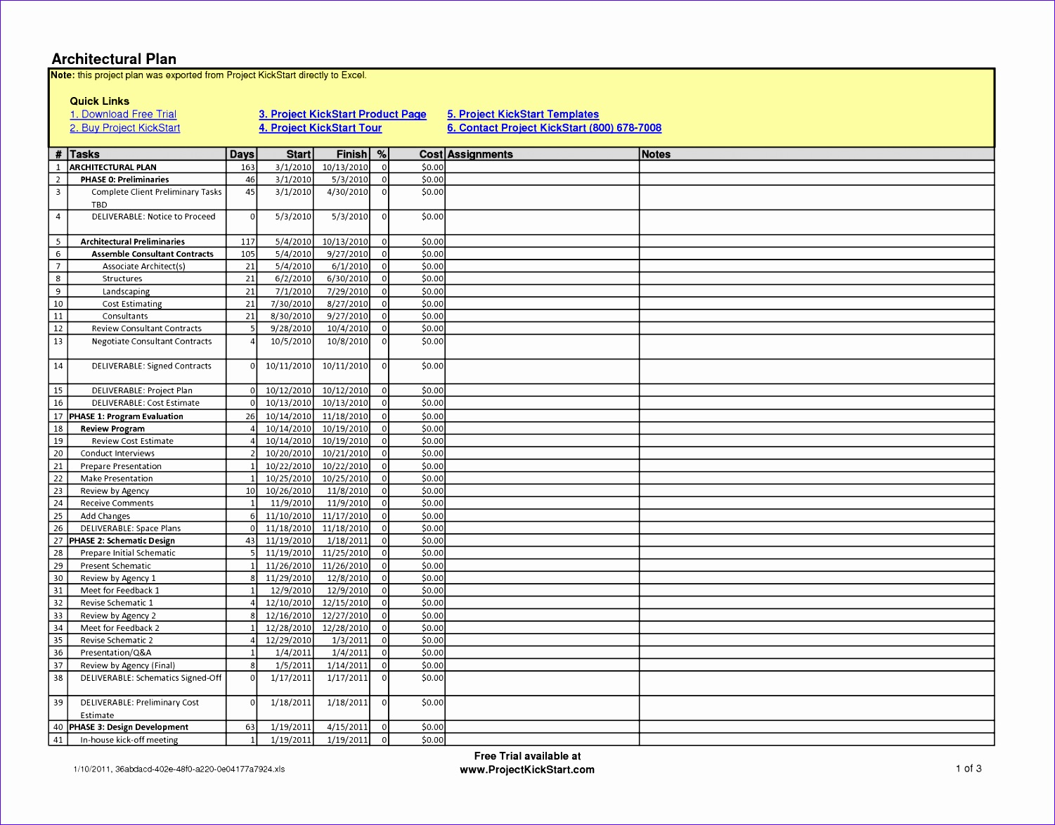 6 Construction Schedule Template Excel Free Download
