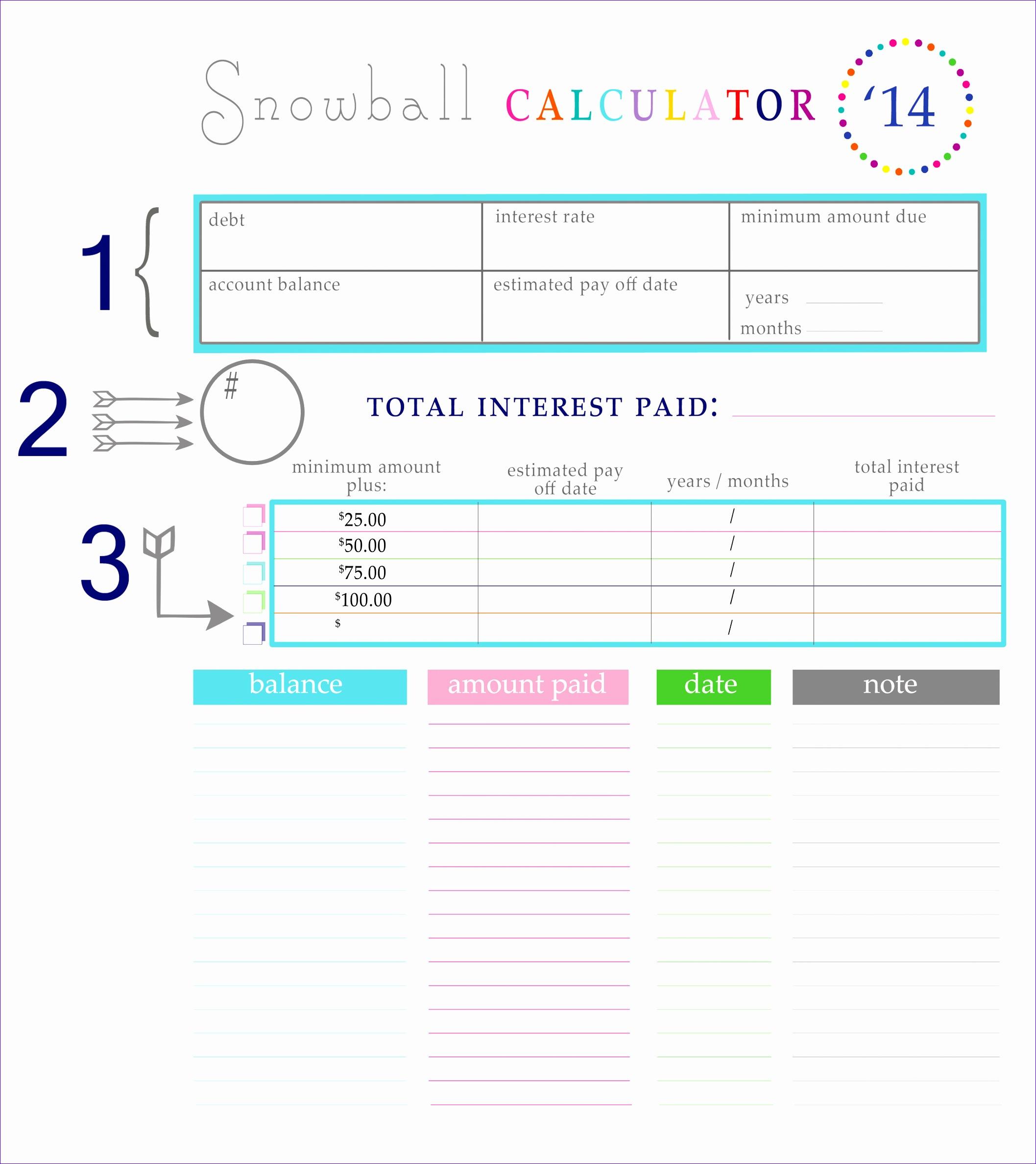 14 Debt Snowball Calculator Excel Template