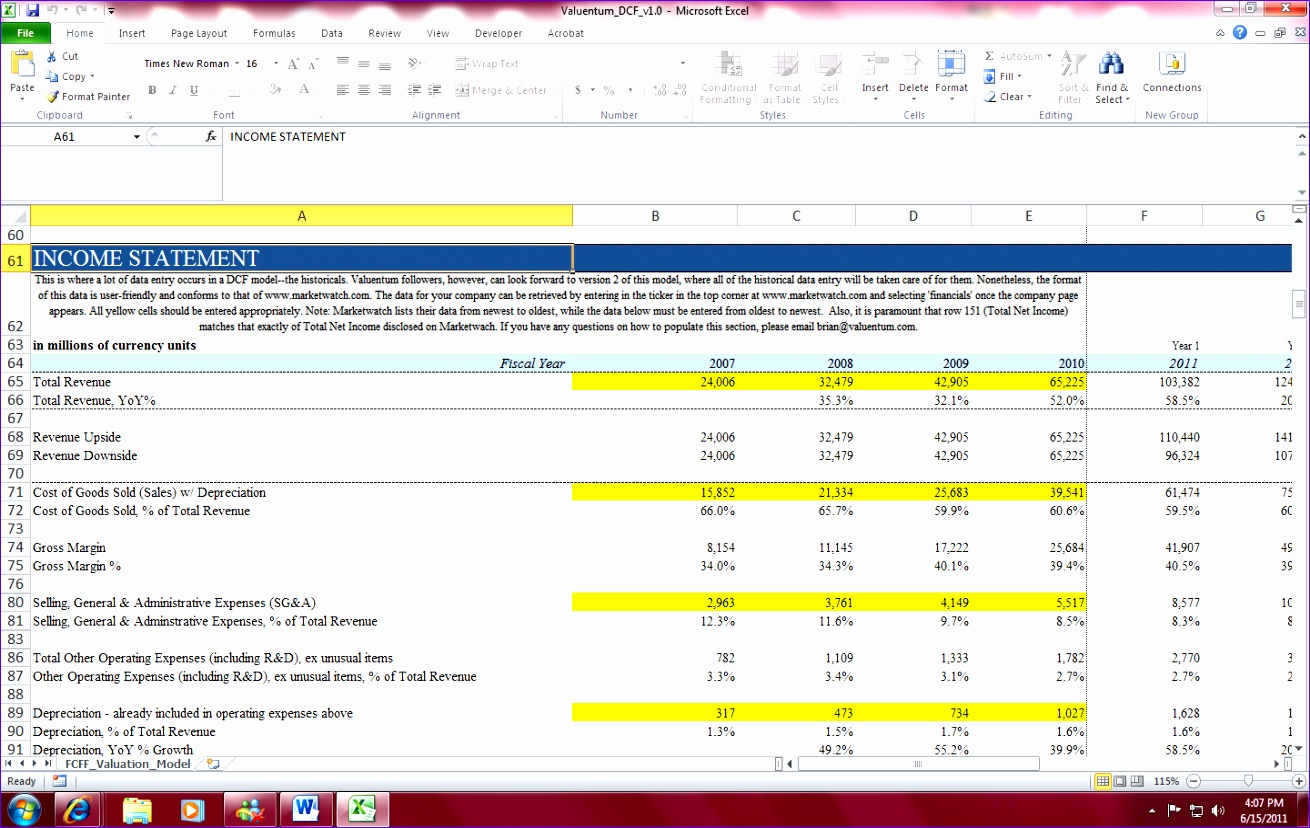 7 Discounted Cash Flowysis Excel Template