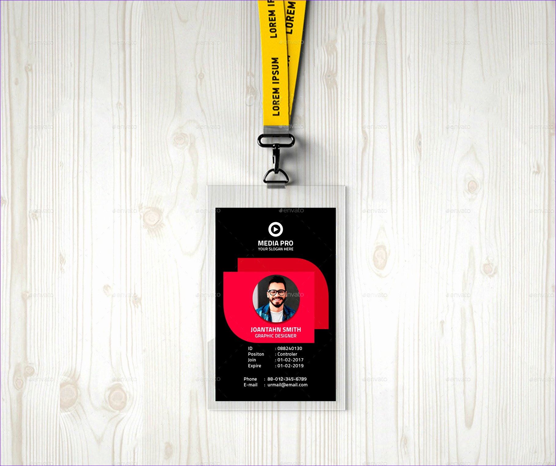 12 Employee S Photo Id Badges Template