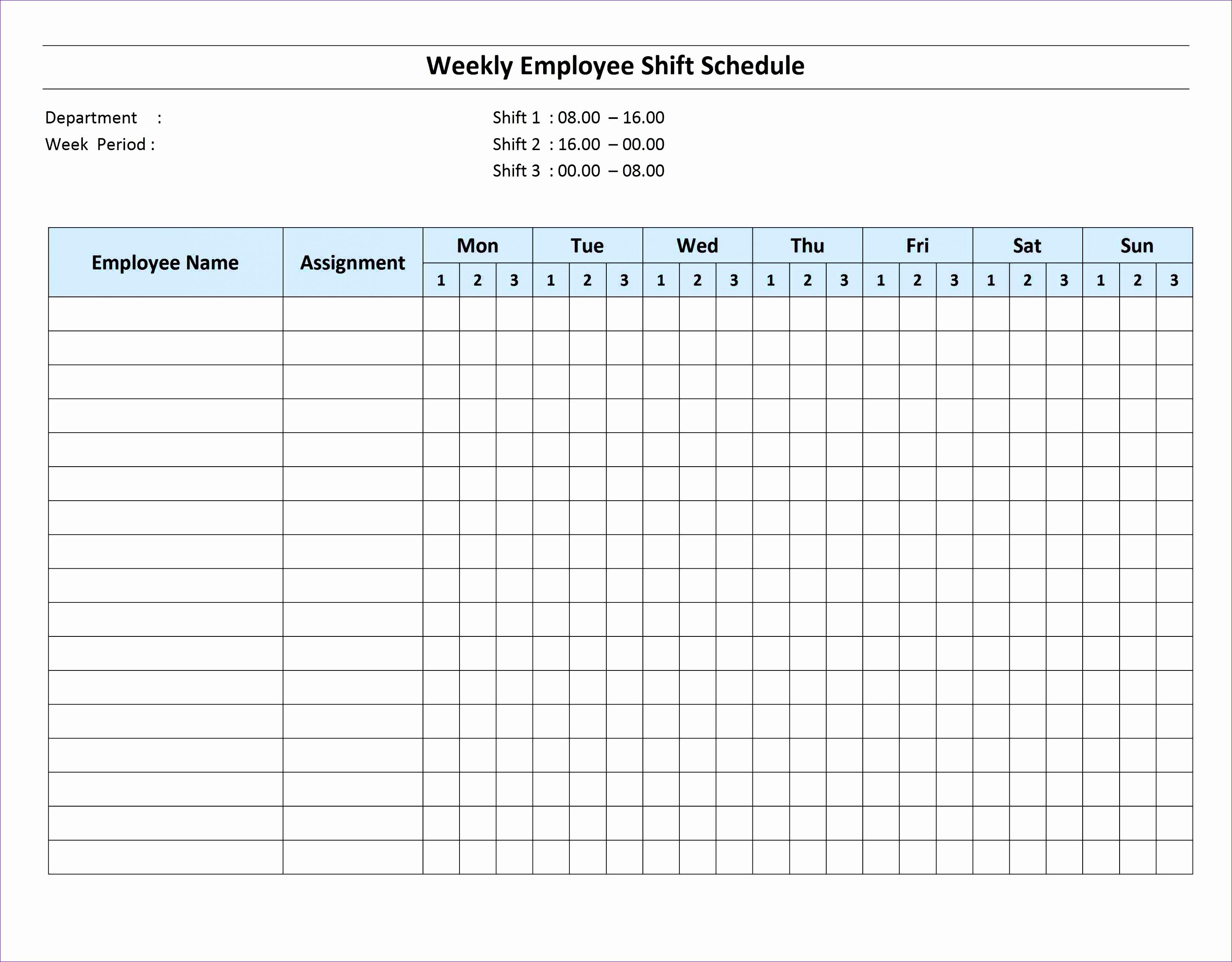 10 Excel Monthly Work Schedule Template
