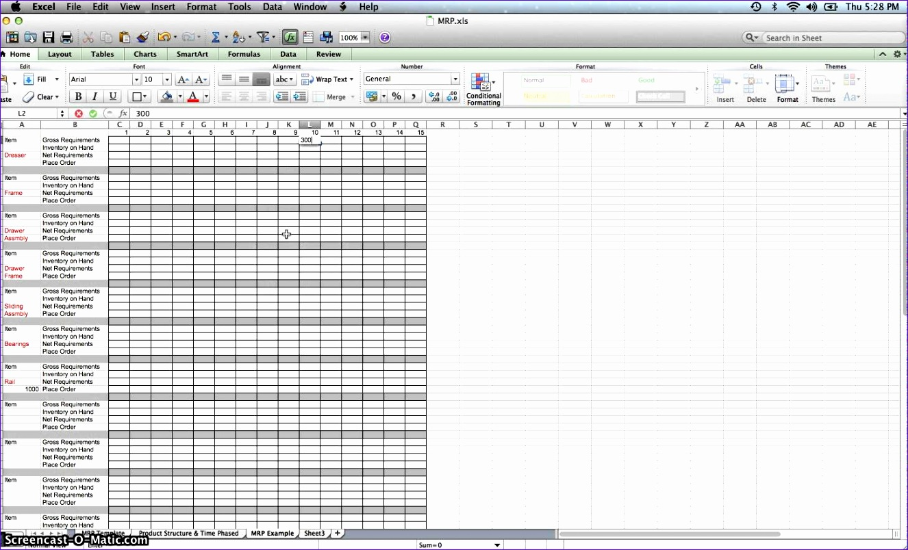 10 Excel Mrp Template