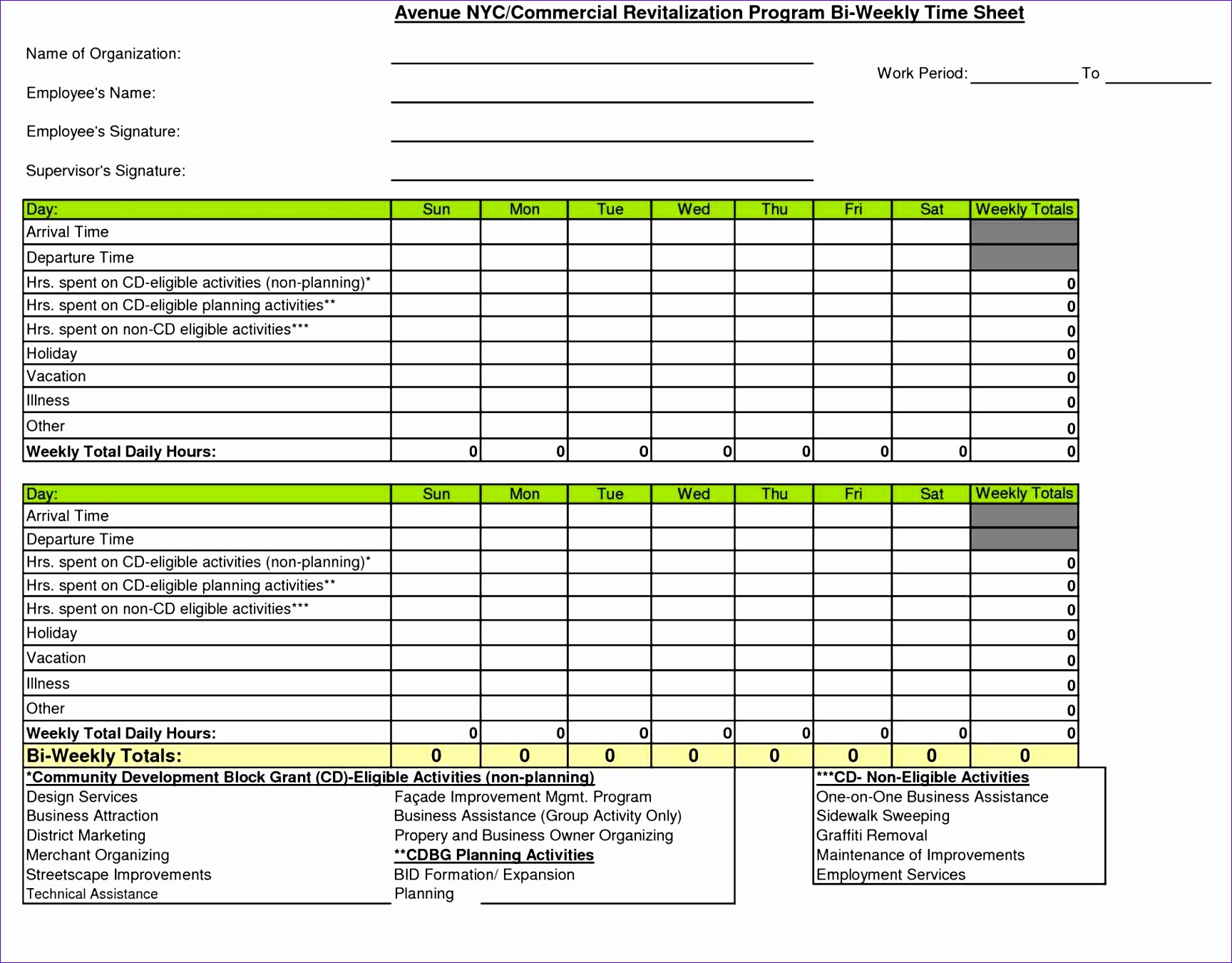 10 Excel Timesheet Template For Multiple Employees