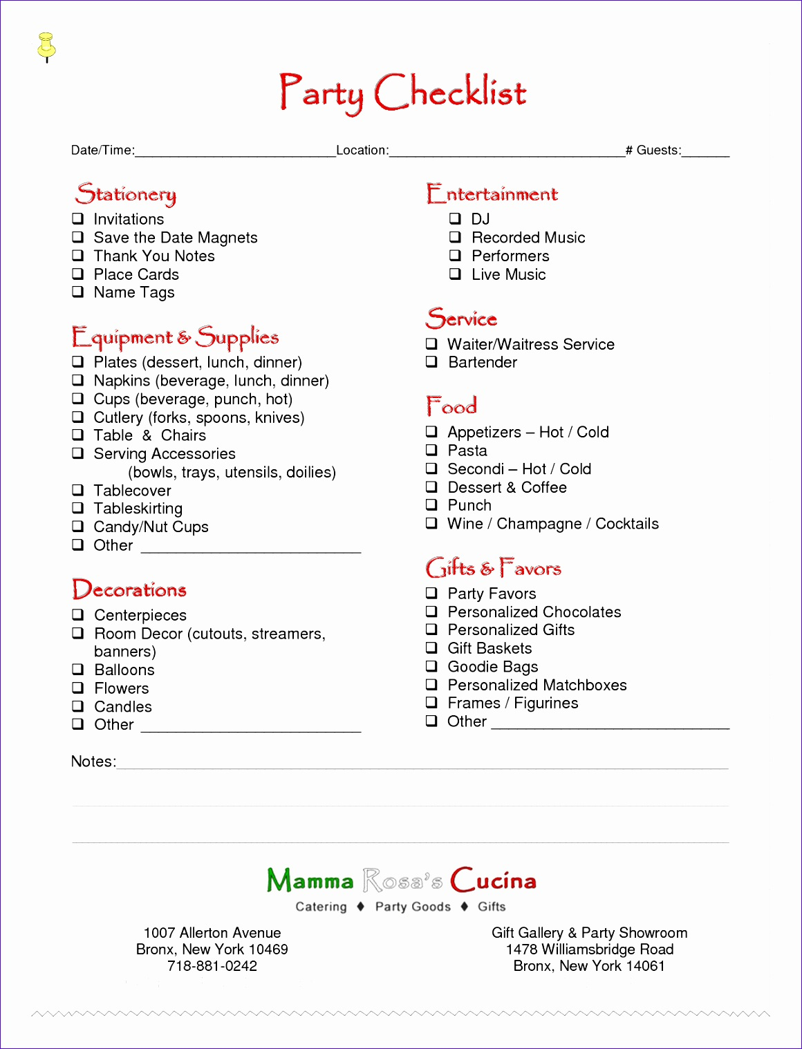 8 Free Event Planning Checklist Template Excel