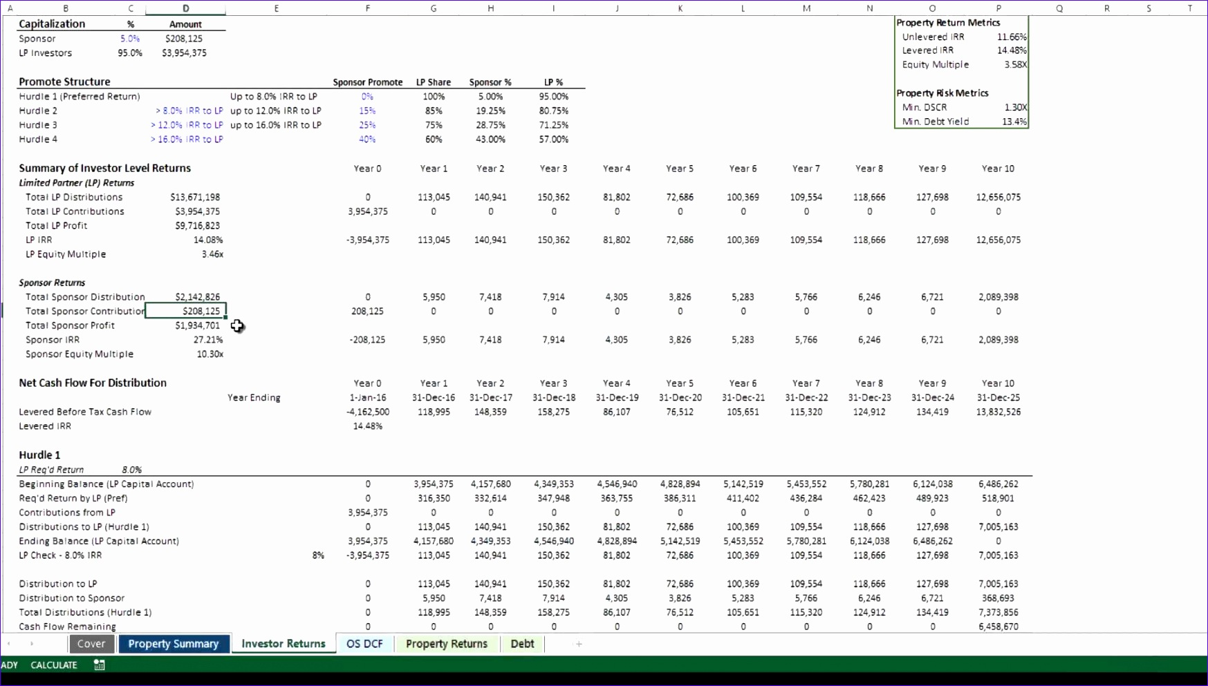 8 Irr Calculator Excel Template