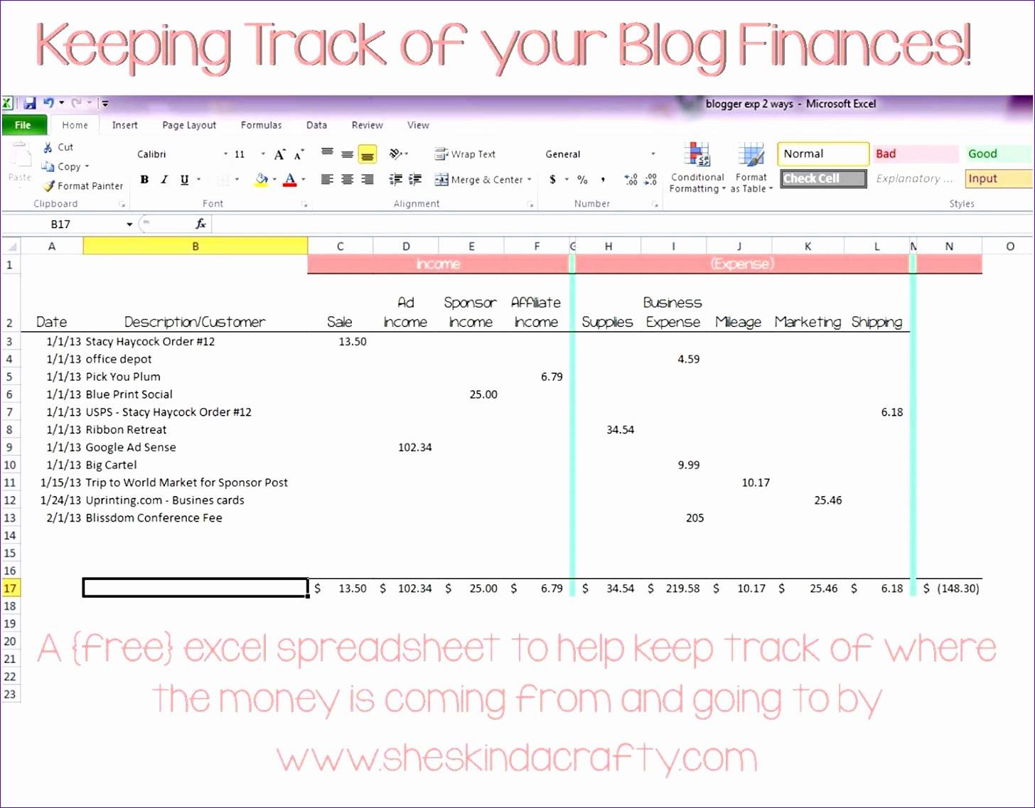 7 Microsoft Excel Expense Tracker Template