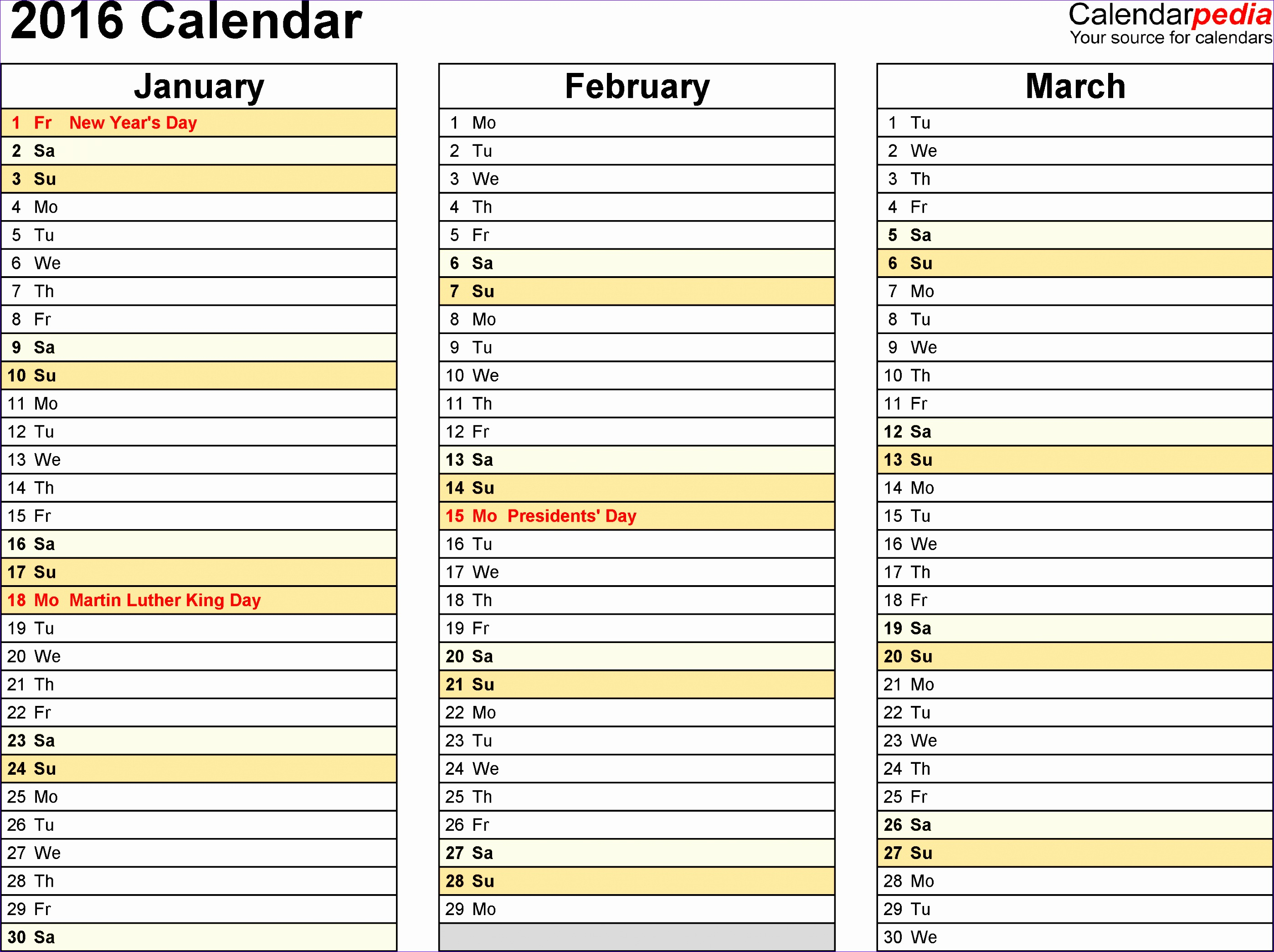 6 Monthly Planning Calendar Template Excel