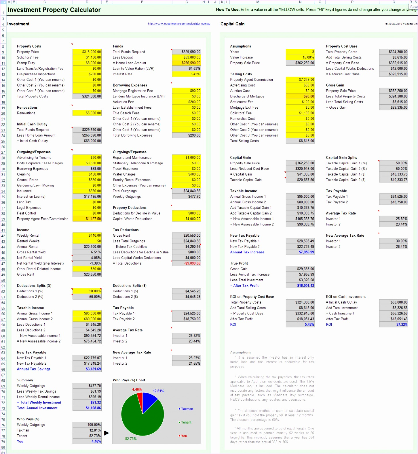 8 Property Management Spreadsheet Template Excel