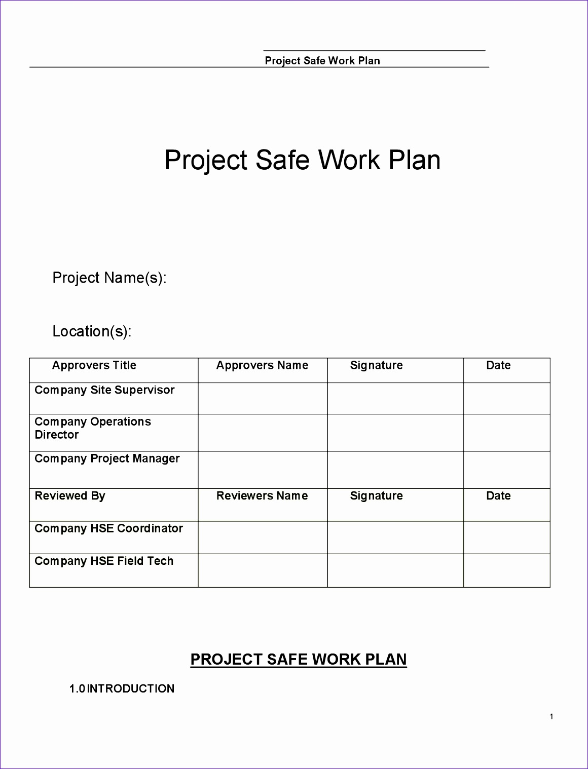 10 Quality Control Plan Template Excel