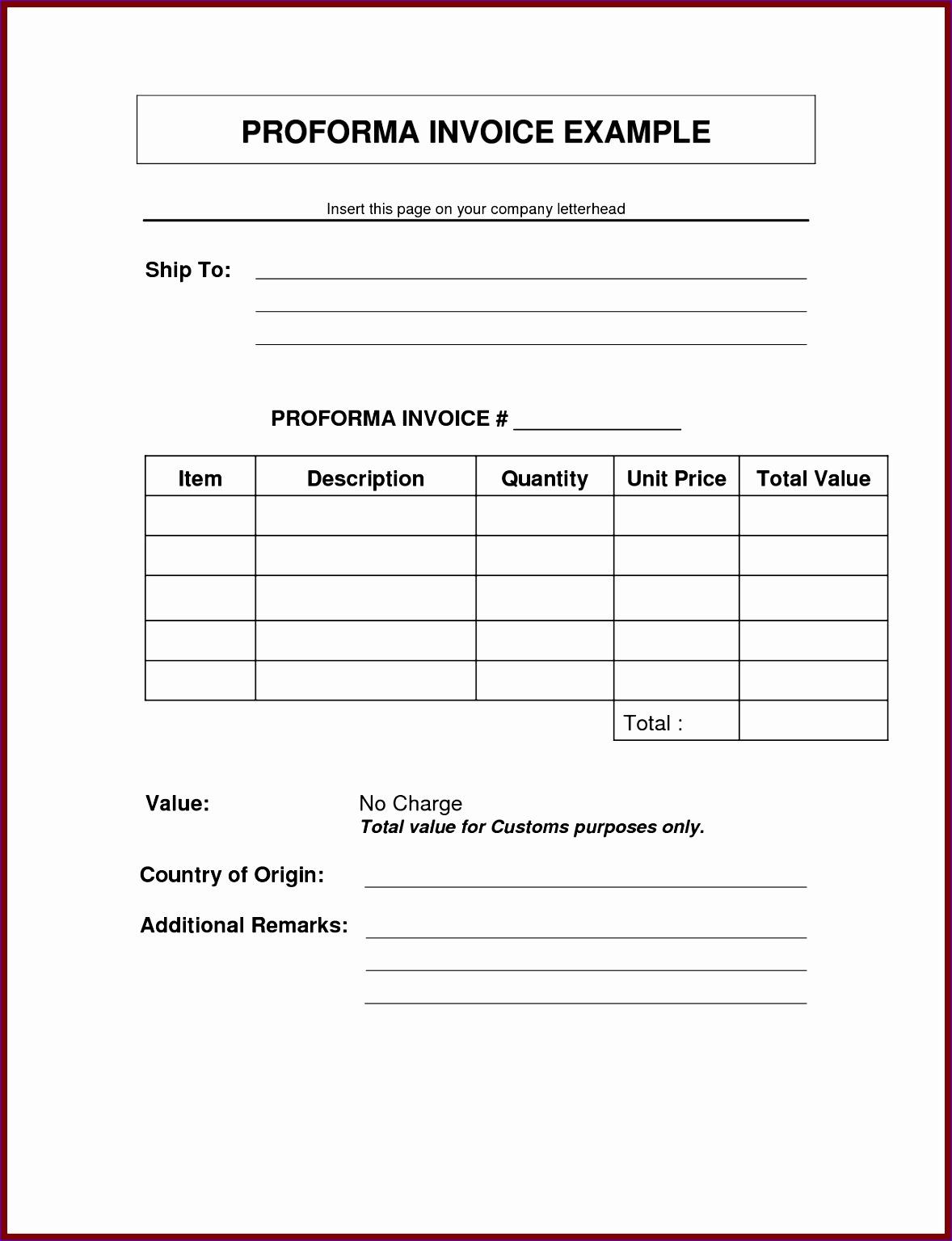 10 Sample Proforma Invoice Excel Template