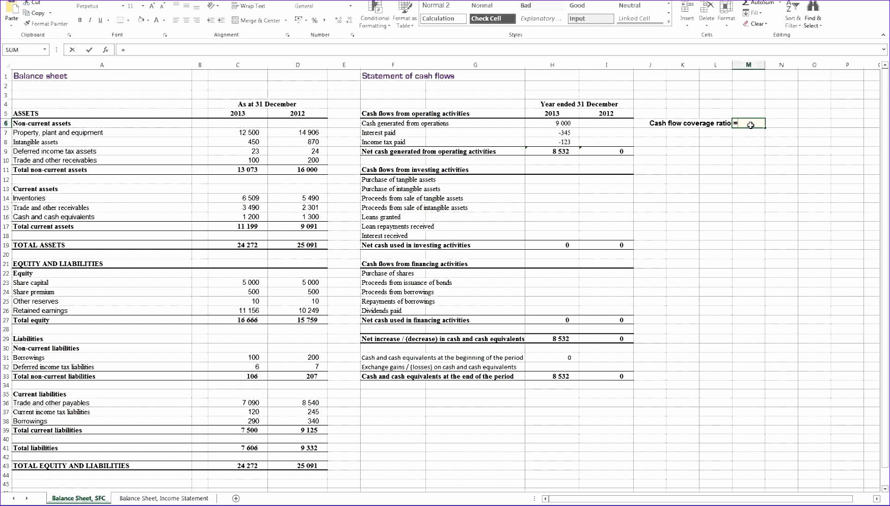 14 Statement Of Cash Flows Excel Template