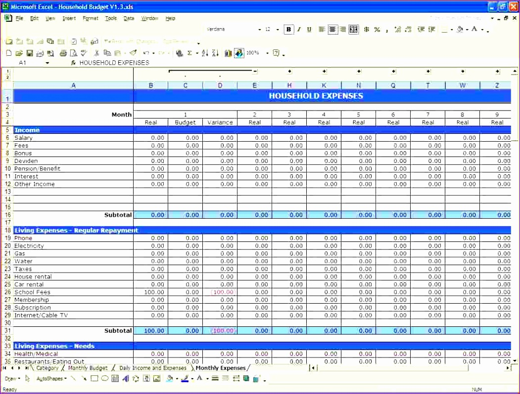 8 Budget Tracking Template Excel