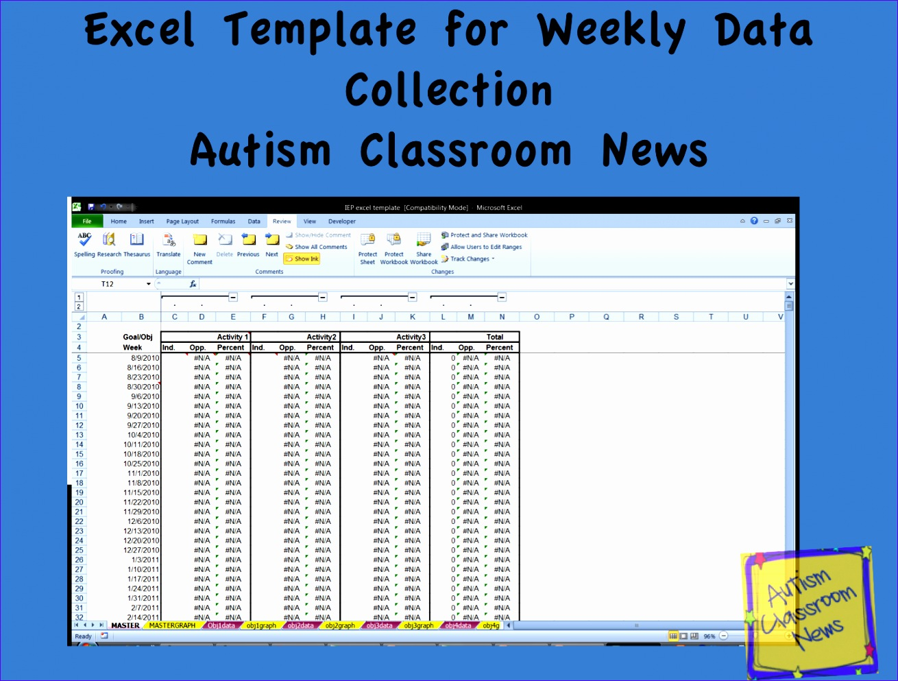 8 Dataysis Template Excel