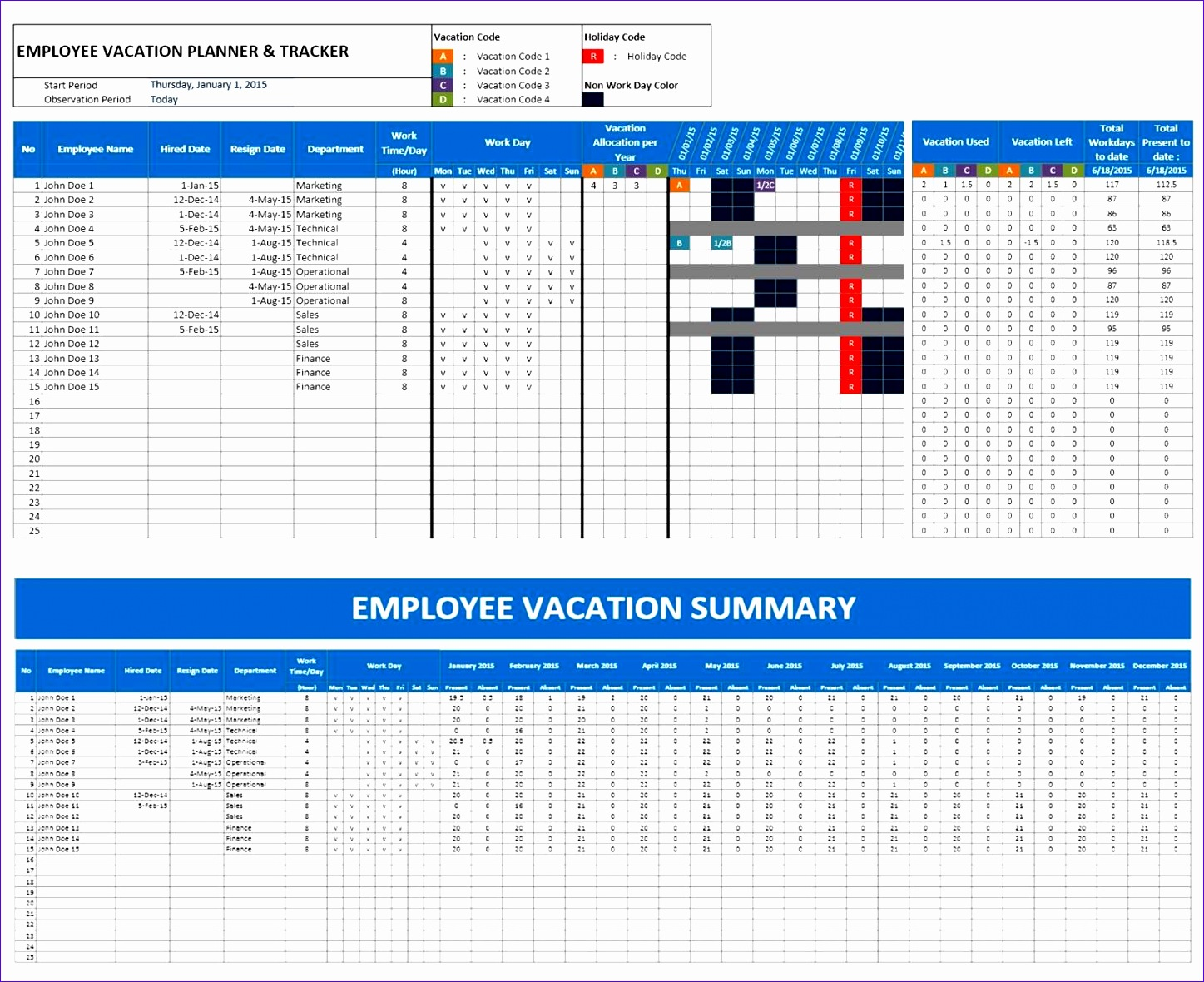 6 Employee Schedule Excel Template