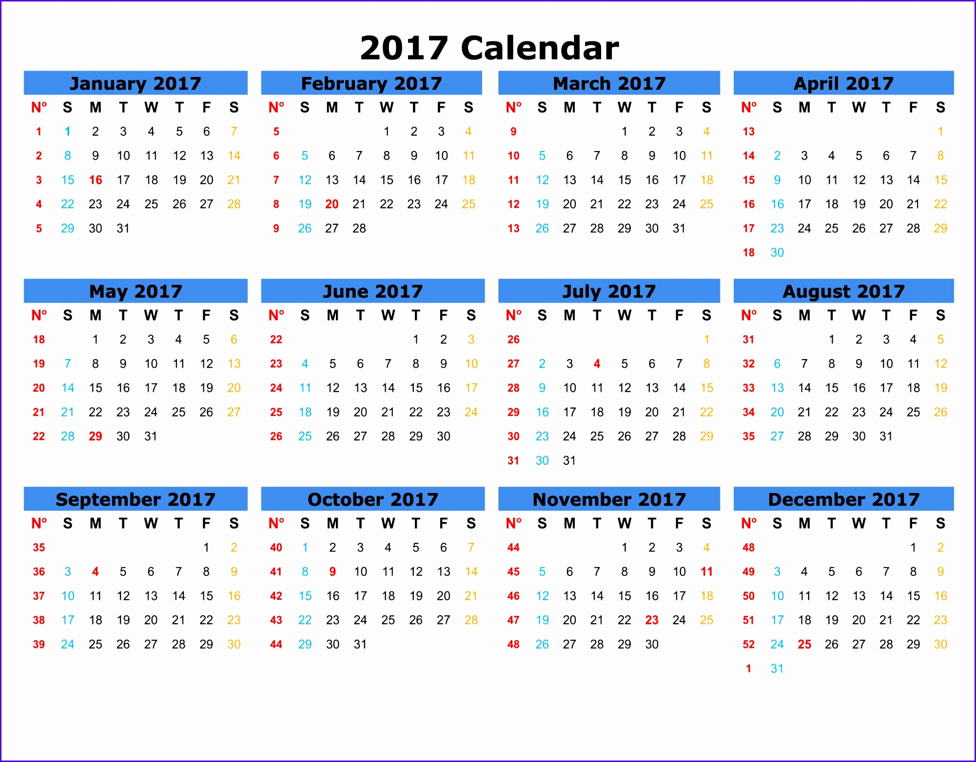 9 Monthly Calendar Template Excel