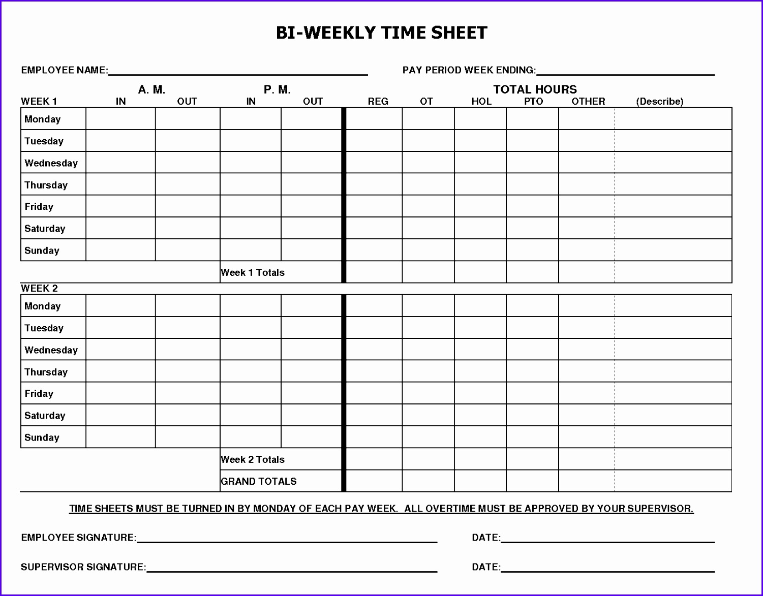 Monthly Payroll Worksheet