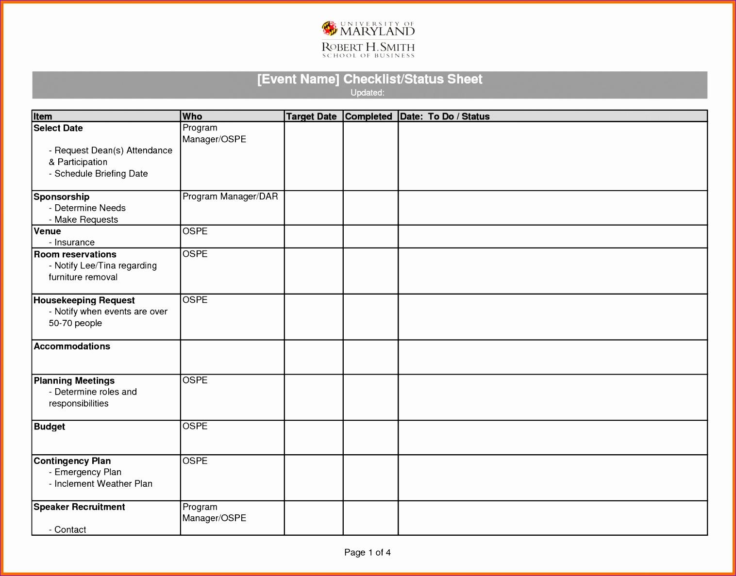 10 Excel Checklist Templates