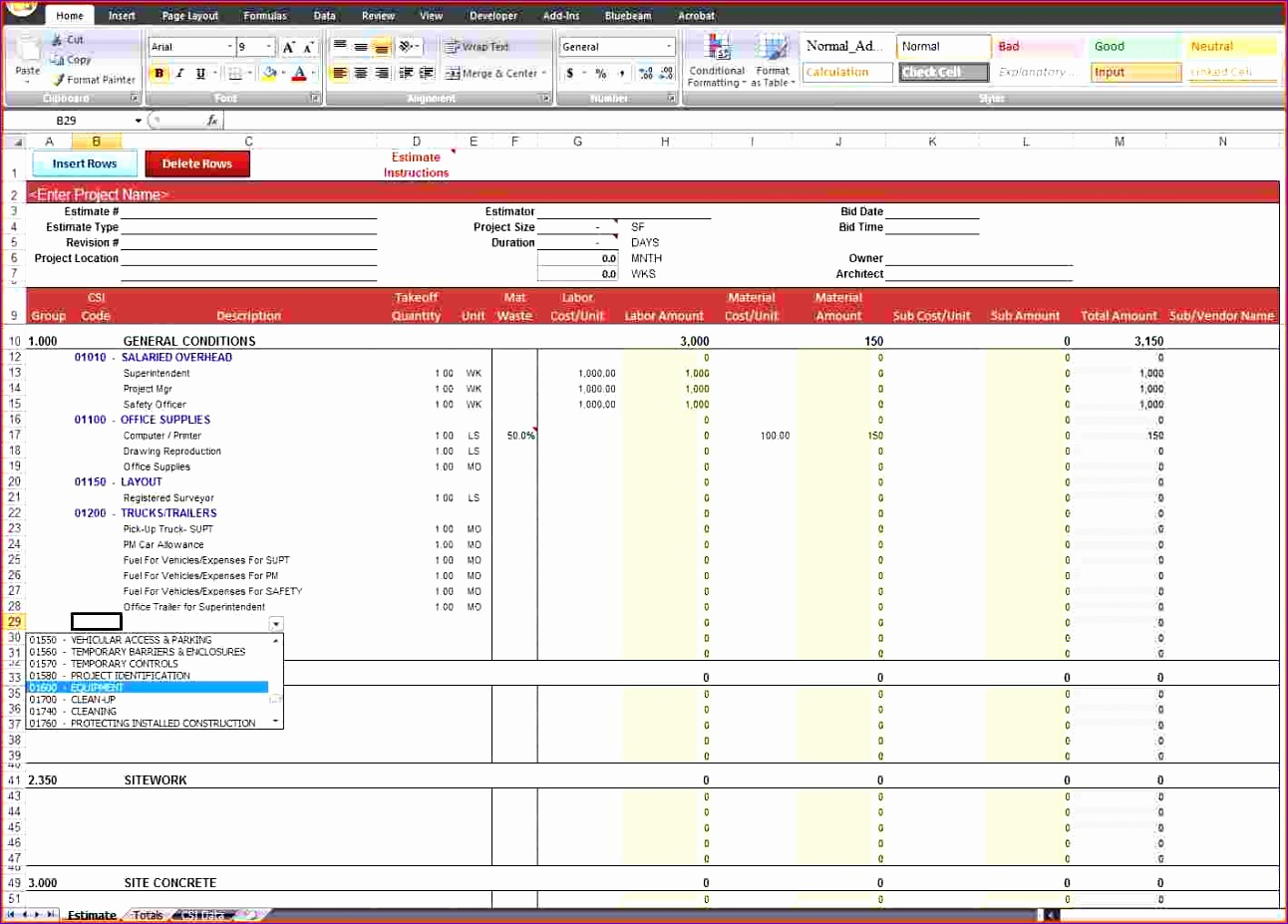 10 Excel Family Budget Template