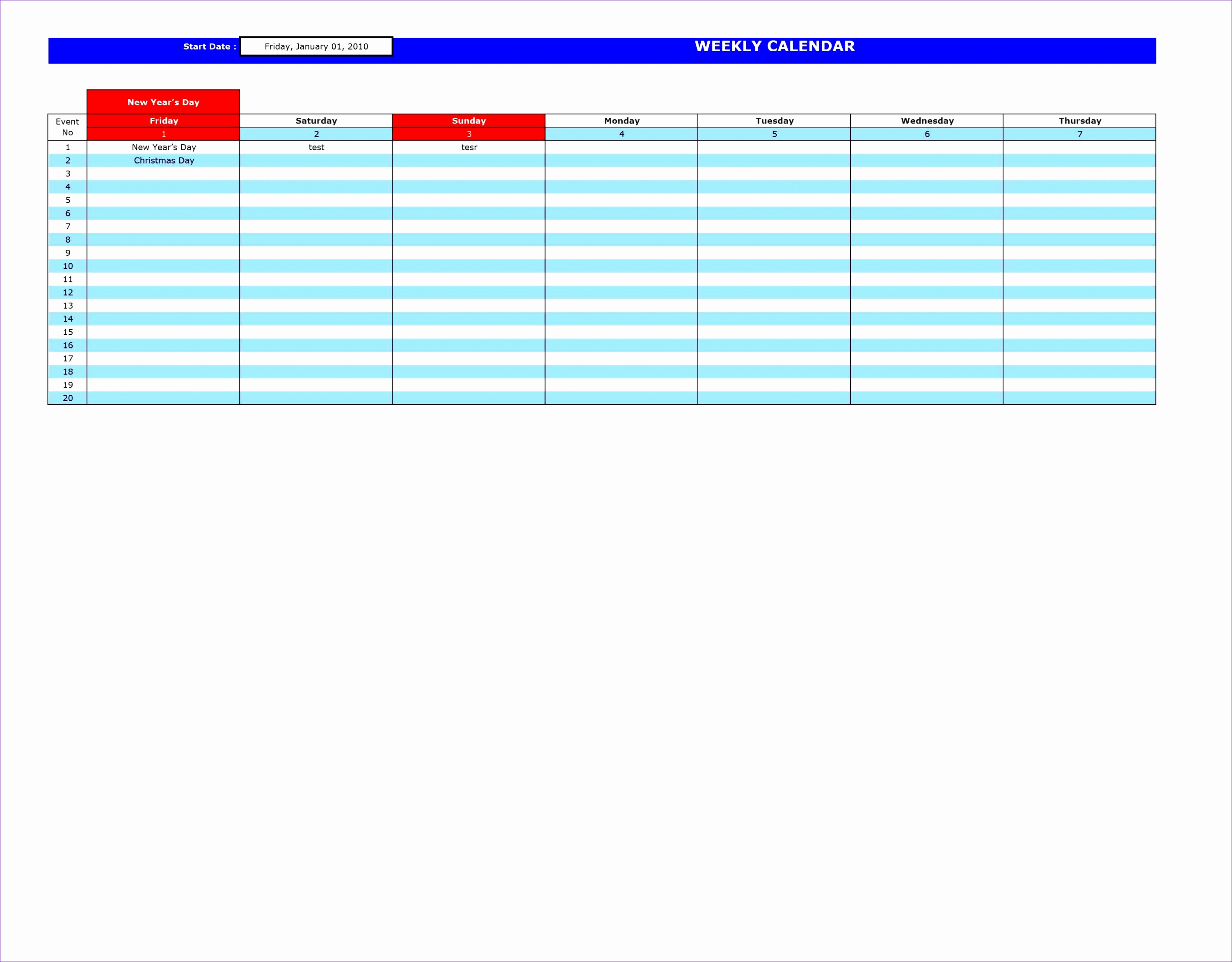 6 Excel Templates