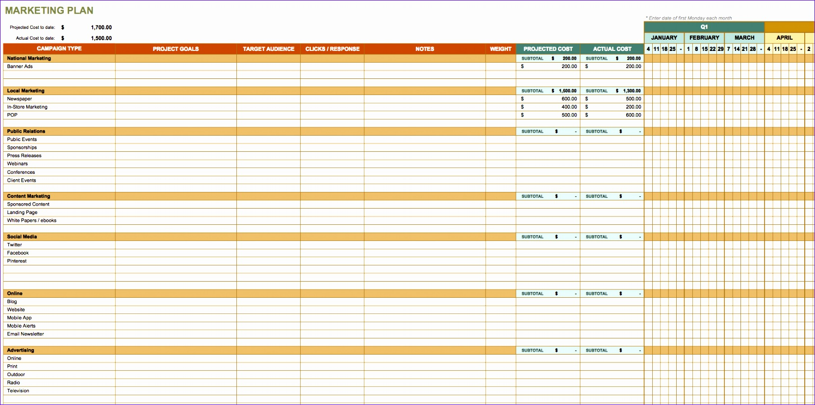 8 Free Excel Bookkeeping Templates