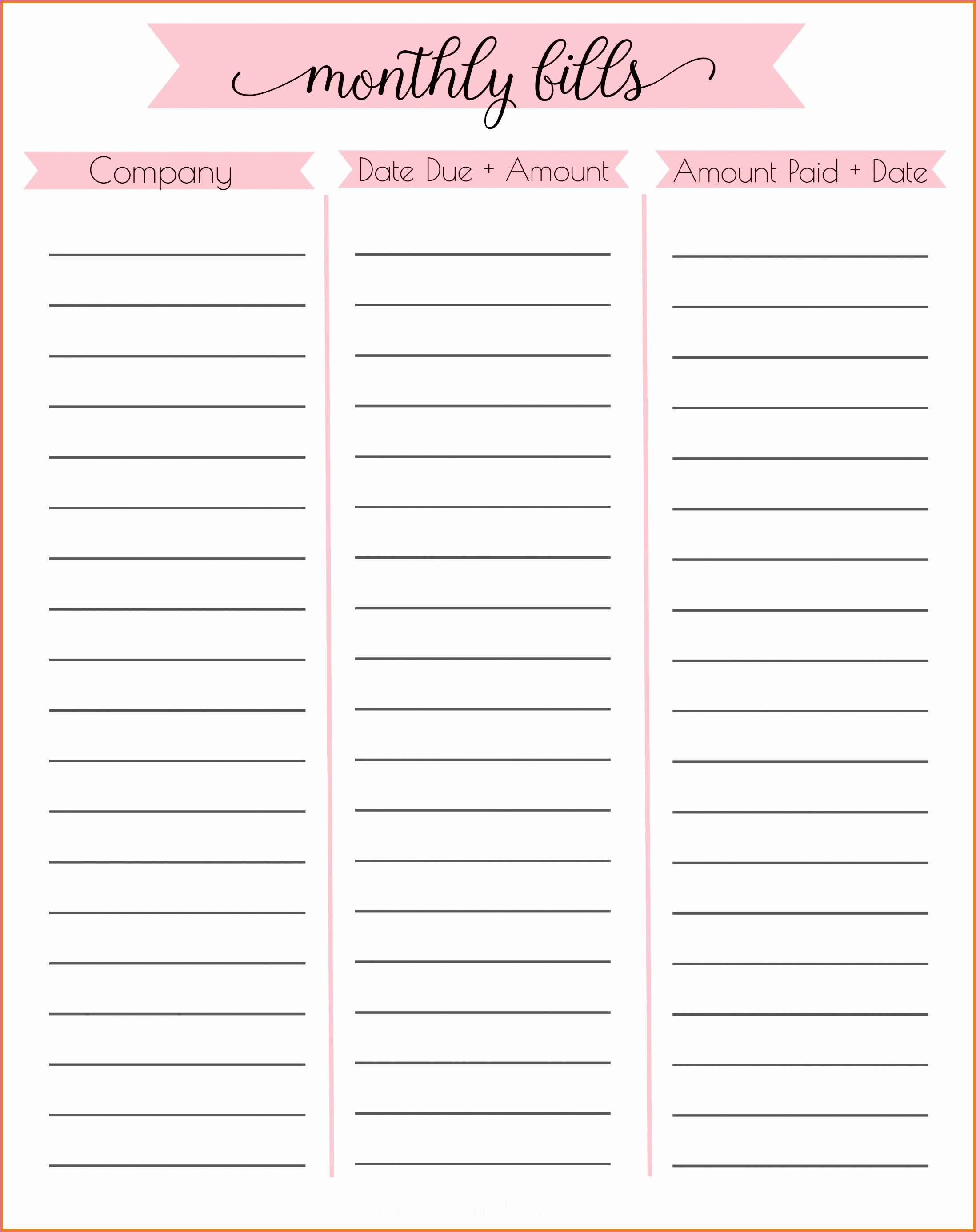 5 Free Personal Budget Template Excel