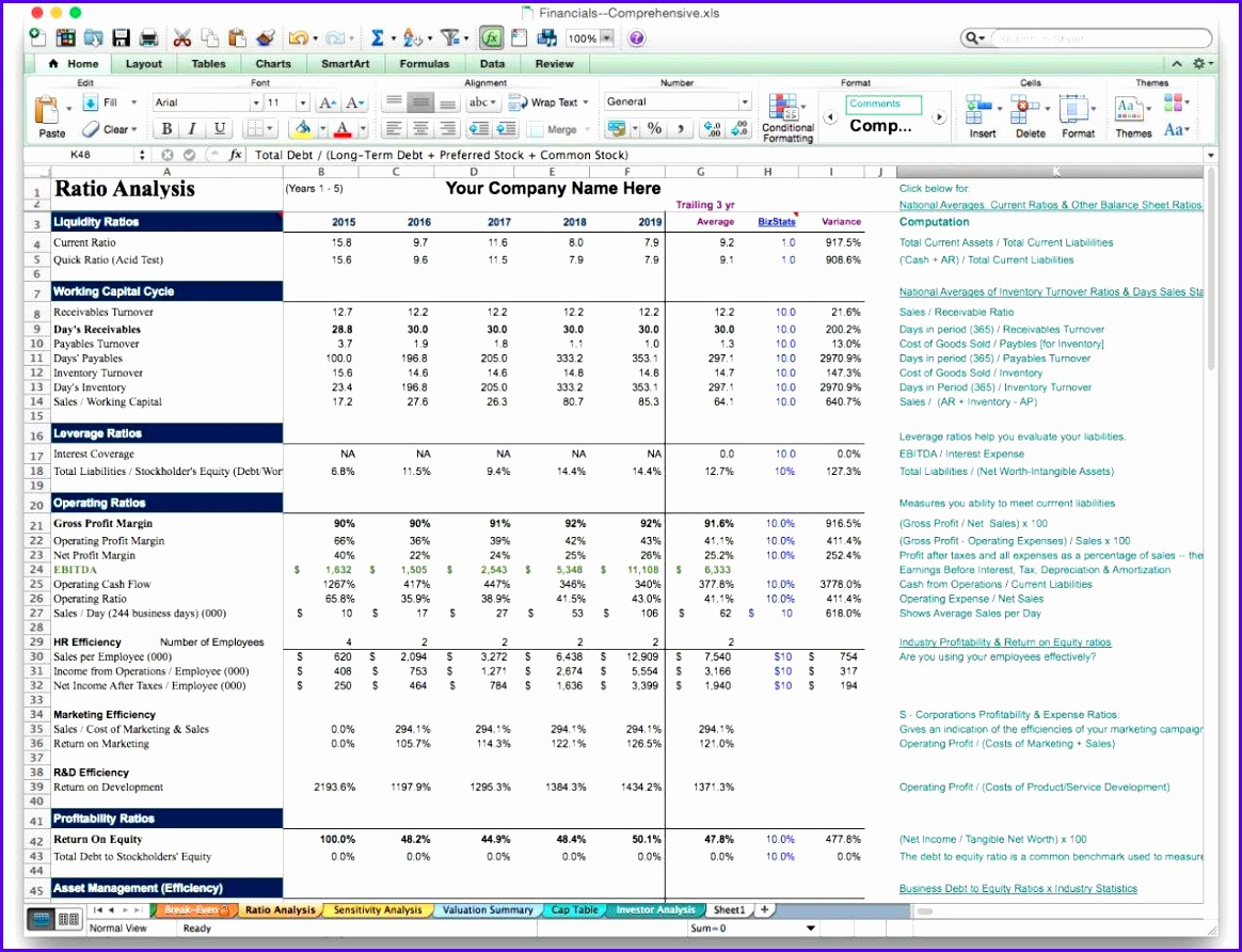 12 Net Worth Excel Template