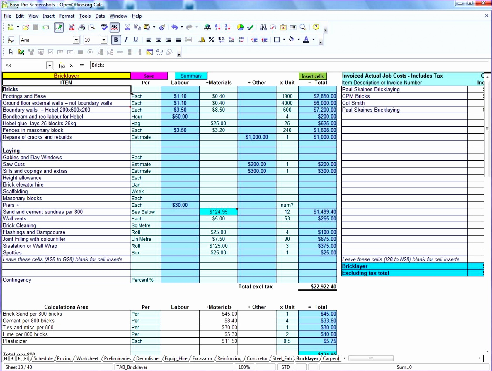 9 Project Estimation Excel Template