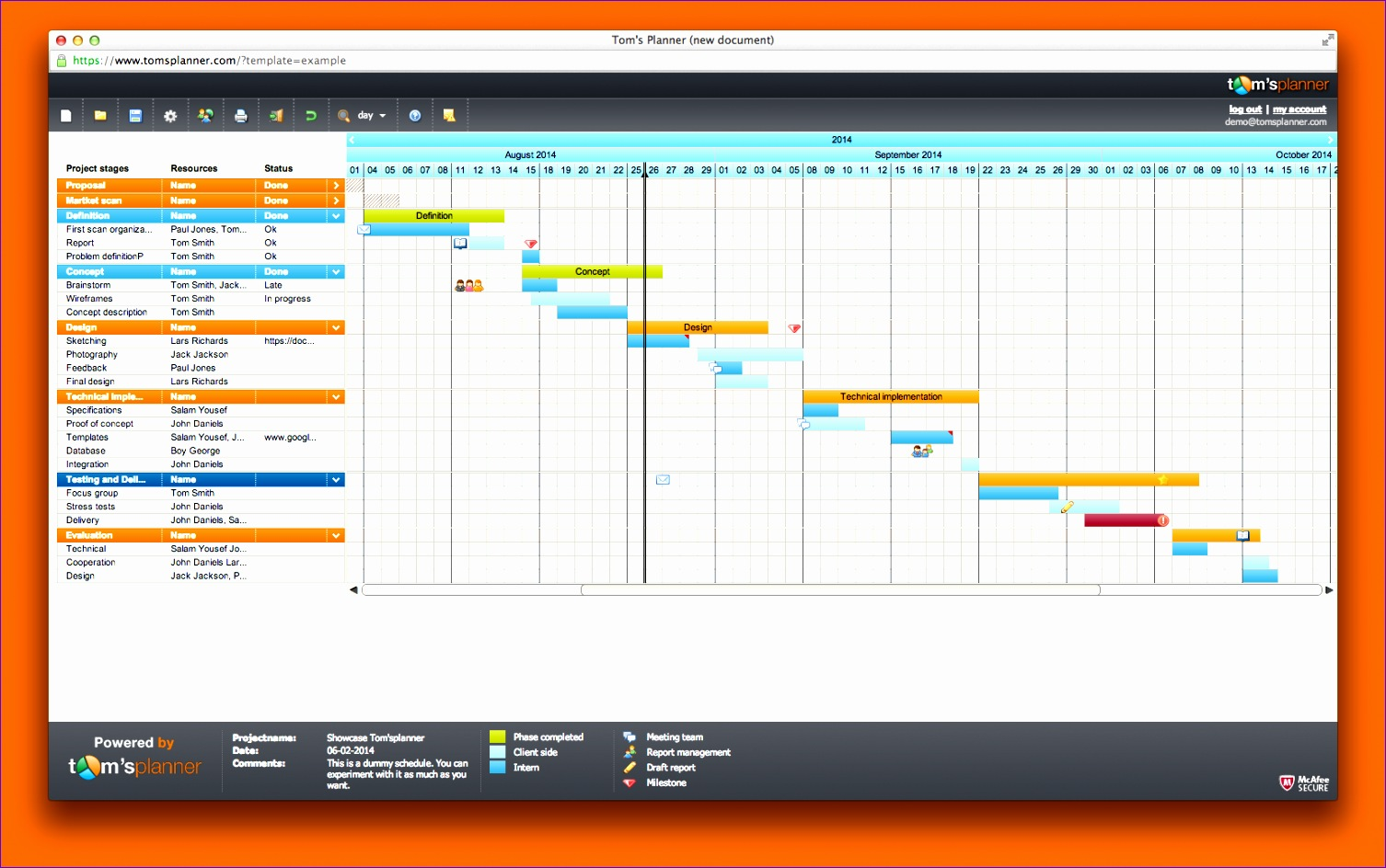 6 Project Management Timeline Excel Template