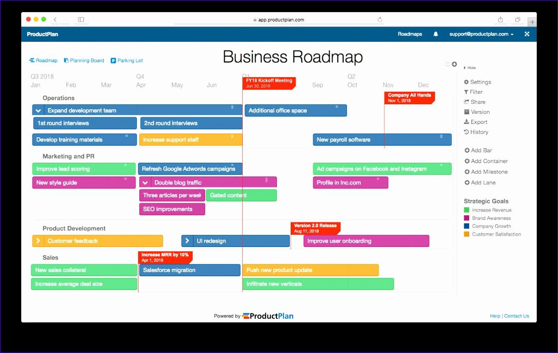 8 Roadmap Template Excel