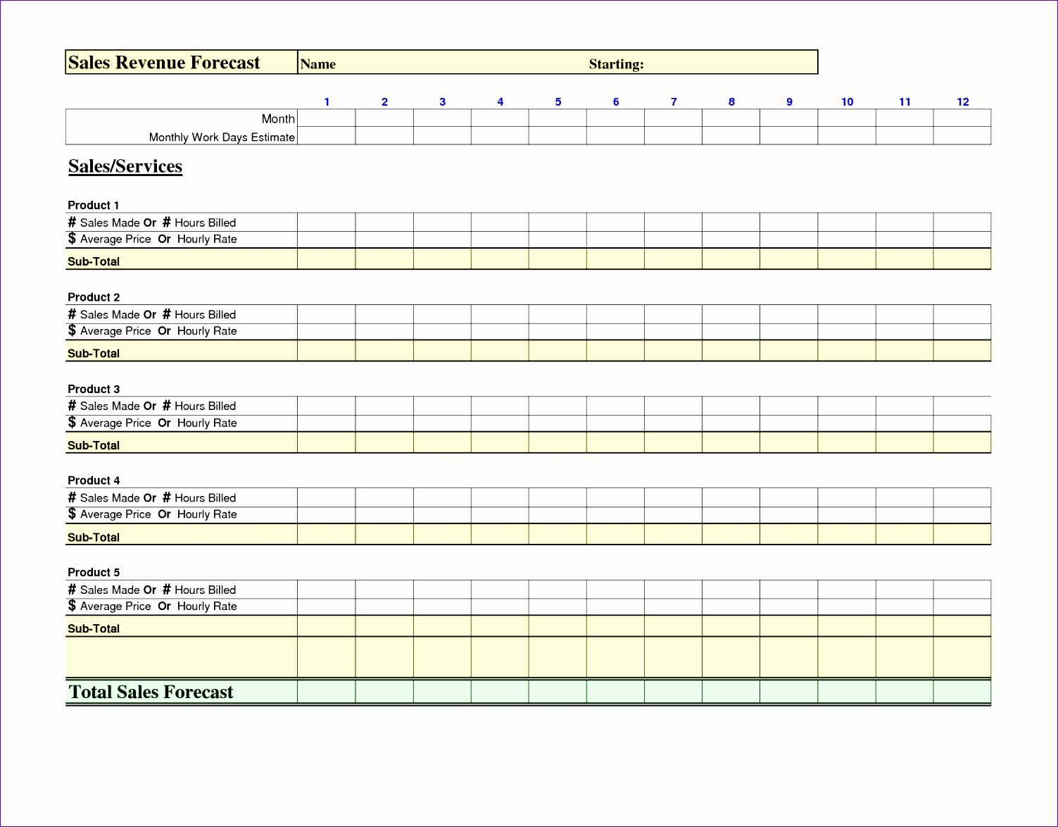 12 Roster Excel Template