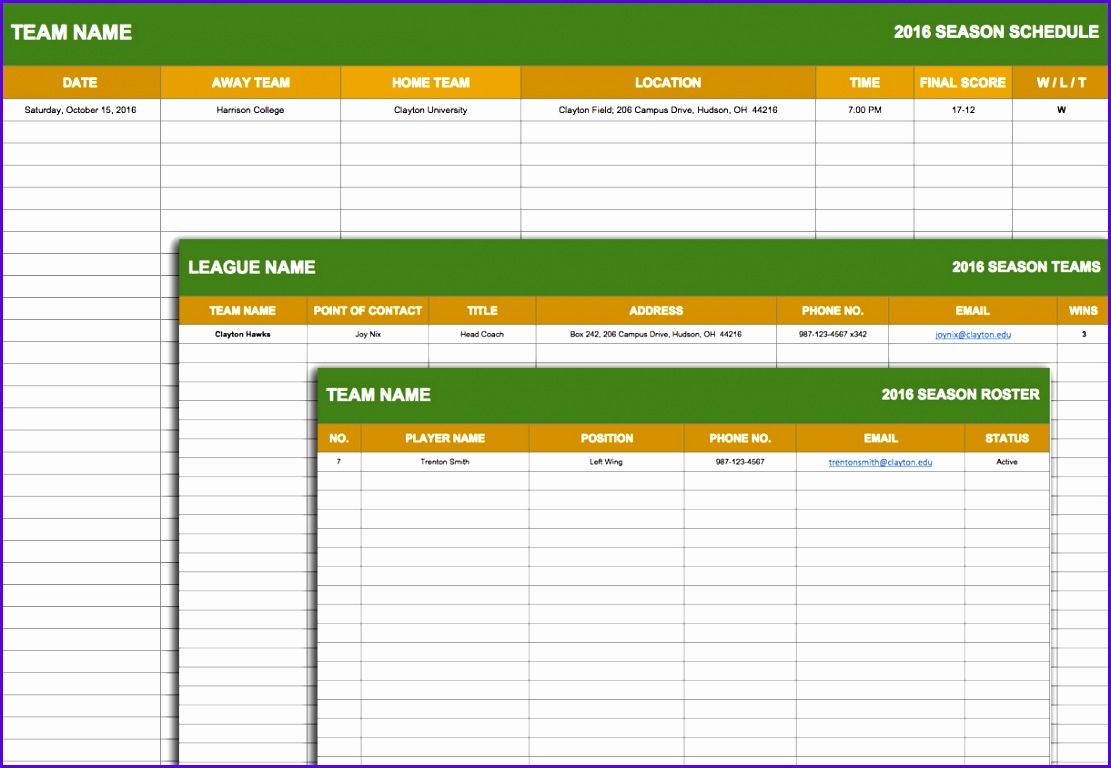 5 Timetable Templates Excel