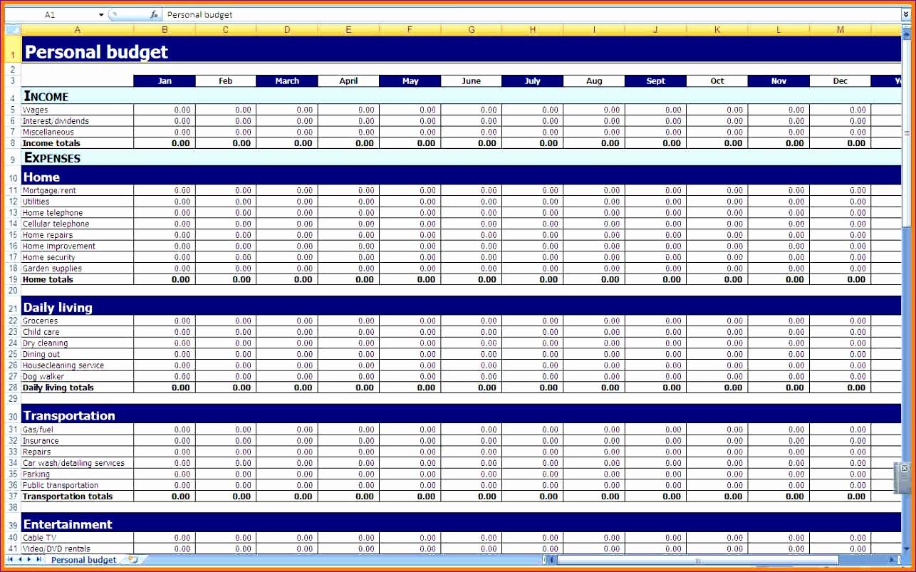 7 Schedule Spreadsheet Template Excel