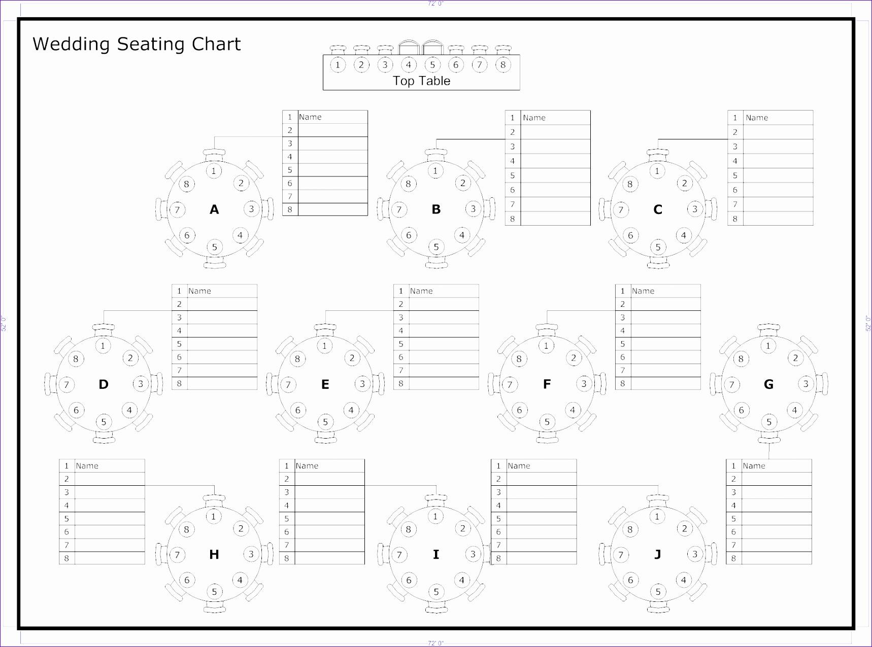 10 Seating Chart Excel Template