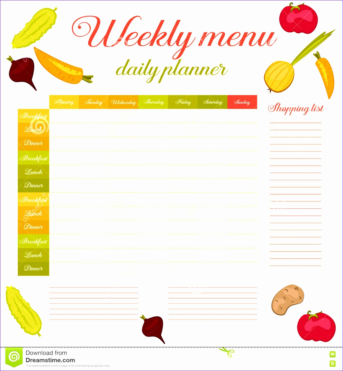 14 Shopping List Template Excel