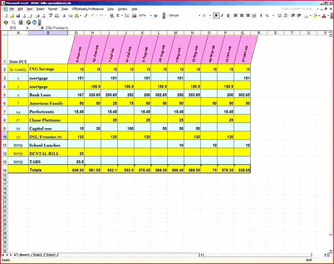 6 Small Business Budget Template Excel