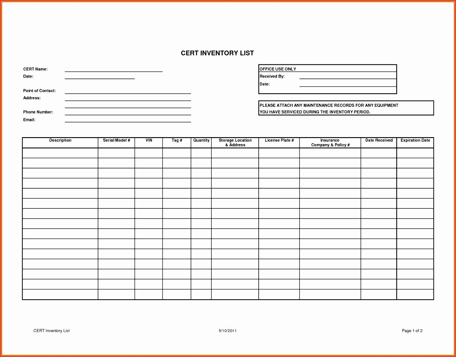 10 Task List Template Excel