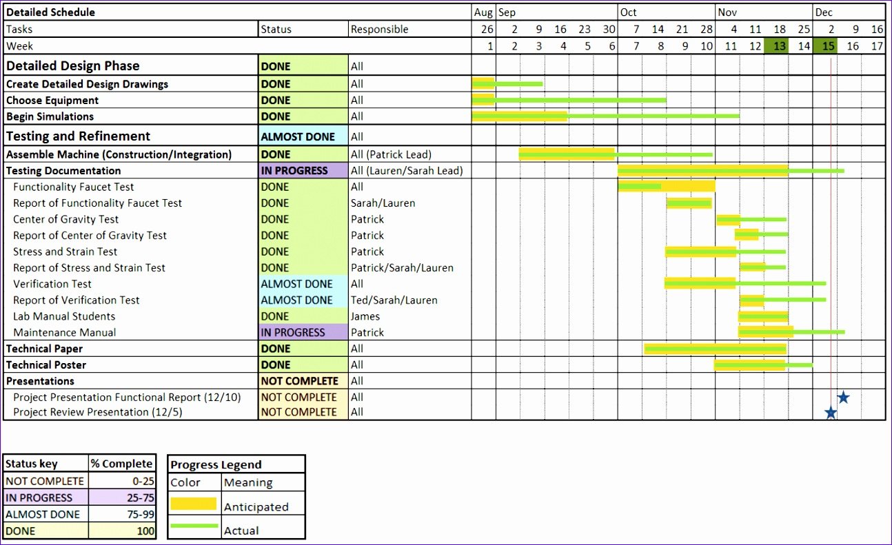 8 Timetable Template Excel