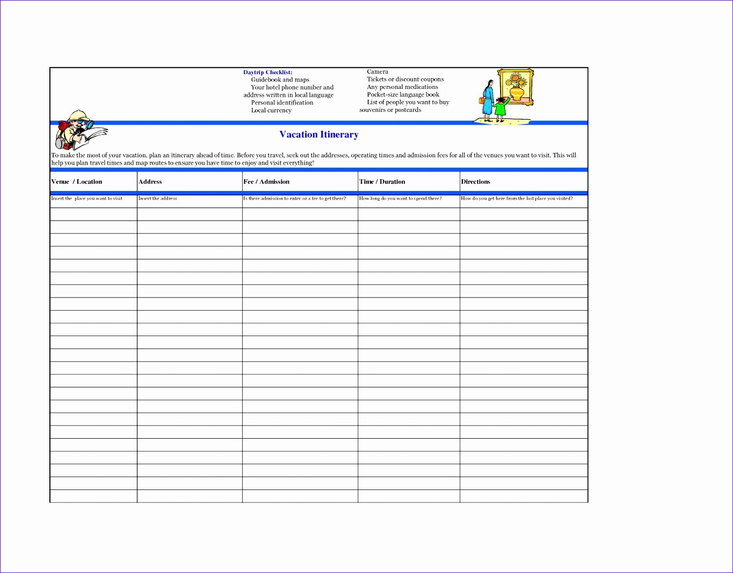 Vacation Payment Worksheet