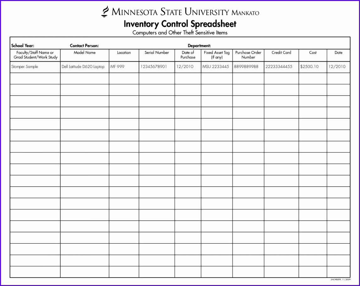 11 Excel Template Sheet