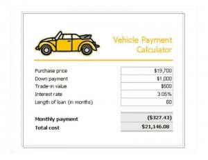 Car Loan Payment Calculator Template