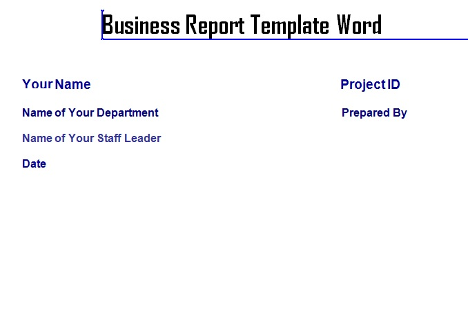 professional business report template word exceltemple